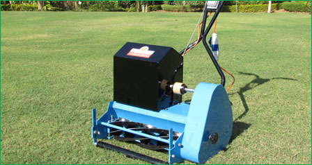 Roller type electric lawn mower